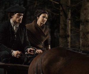 outlander season 4 behind the scenes photos, outlander filming in glasgow