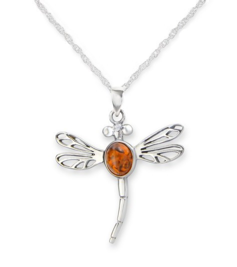 Hamilton & Young, Dragonfly & Amber Pendant