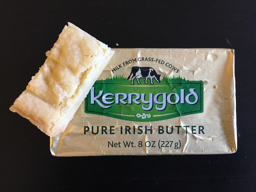 Kerrygold butter with shortbread
