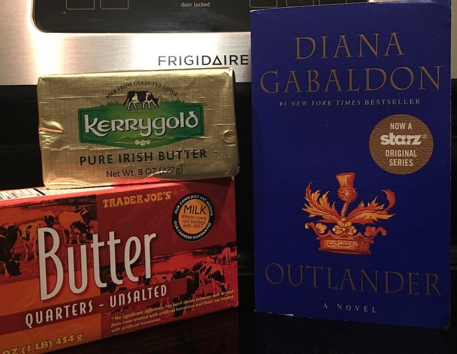 Kerrygold & Trader Joes butter with Outlander book