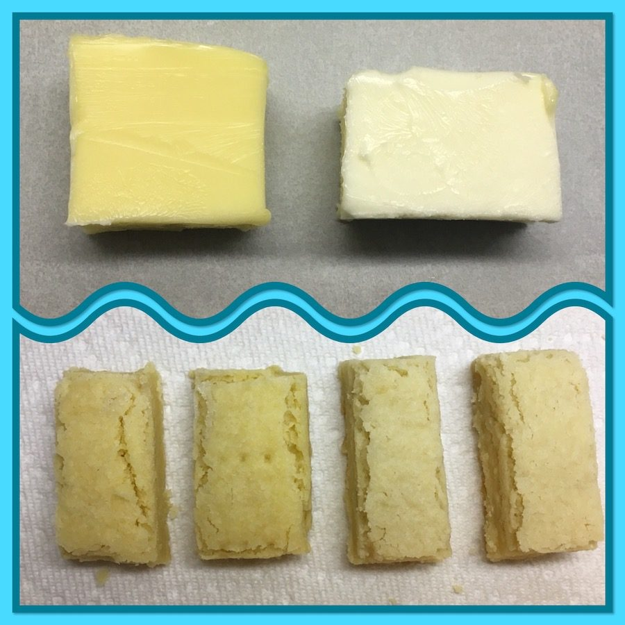 butter comparison & shortbread comparison collage