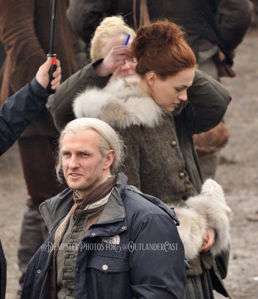 outlander season 4 behind-the-scenes, outlander cast, gary dempster photos