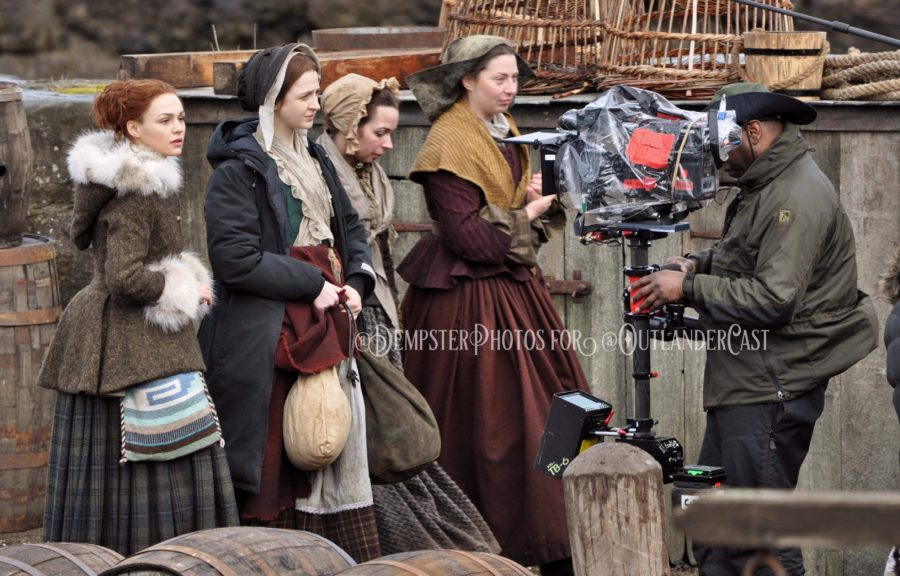 outlander season 4 behind-the-scenes, gary dempster photos, outlander cast blo