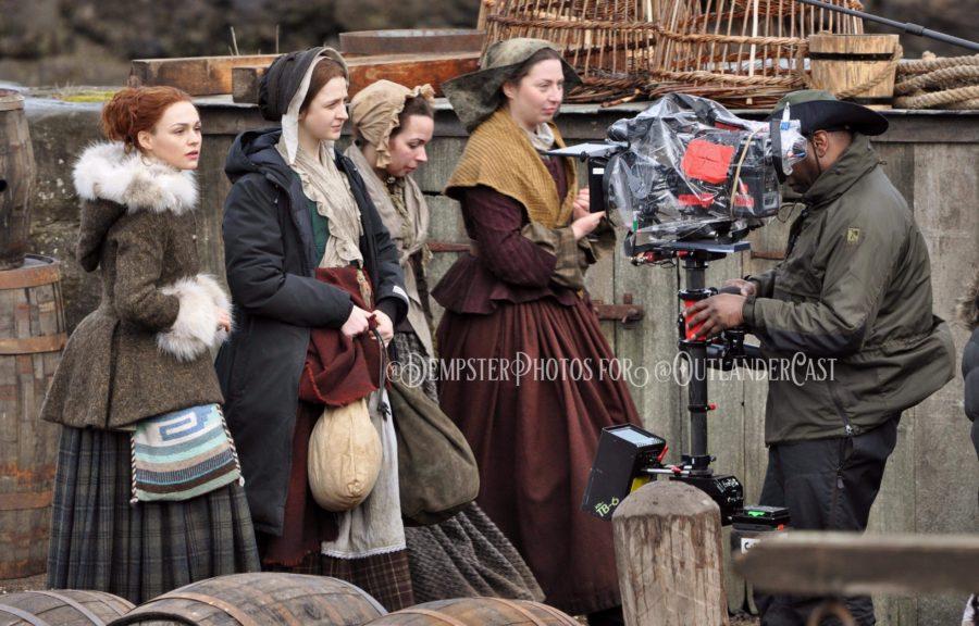 outlander season 4 behind-the-scenes, gary dempster photos, outlander cast blo