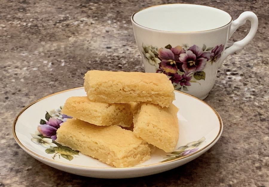 Tammy Lish Spencer, homemade shortbread closeup with teacup