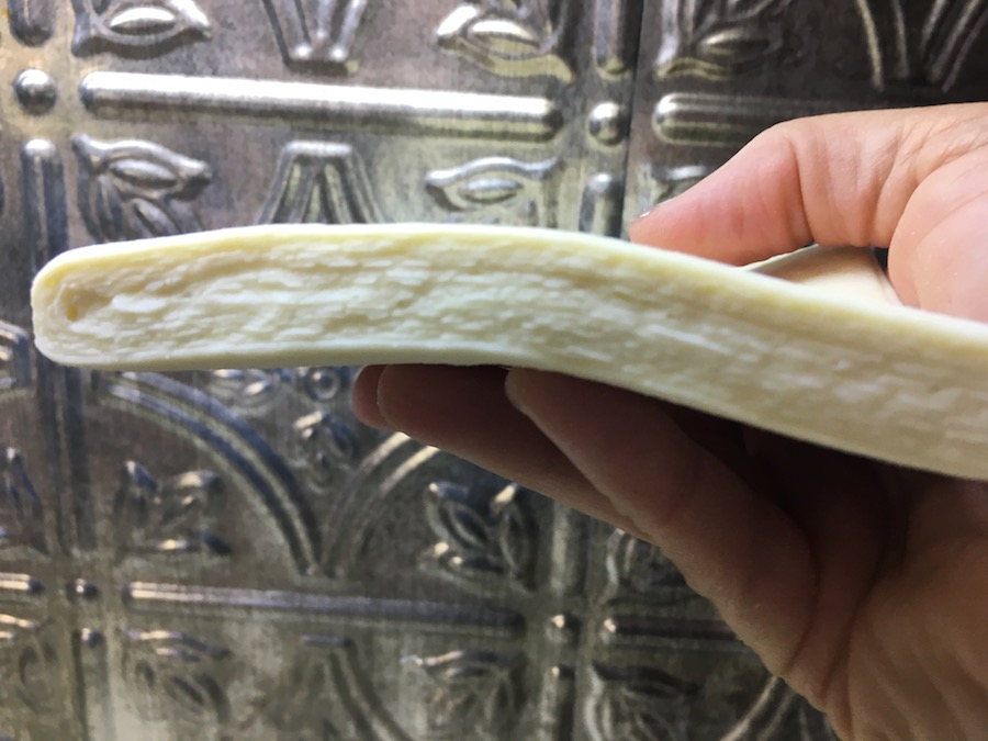 closeup view of laminated dough layers