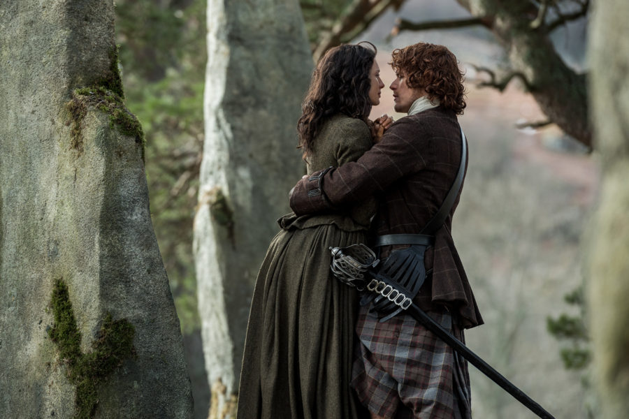 rewatch outlander season 2, jamie and claire good bye