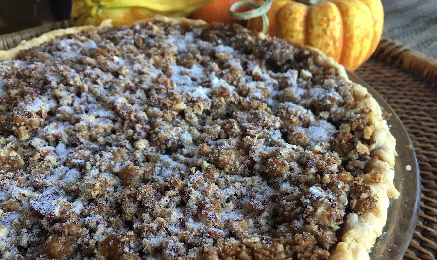 Praline Pumpkin Pie, baking, desserts, pie, pumpkin pie, 18th century baking, 20th century baking, Baking in Boston, Thanksgiving, Outlander, Outlander Season 4, Season 4, How They Made It