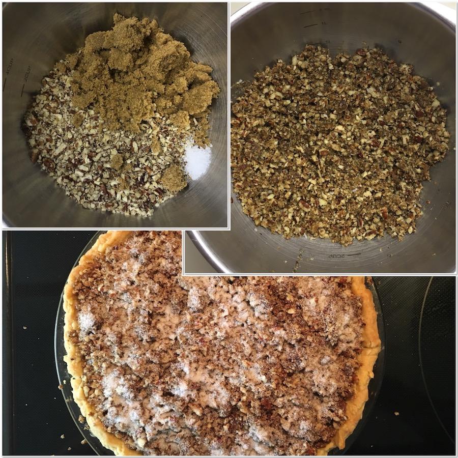 Praline Pumpkin Pie, pie, pumpkin pie, 20th century baking, Thanksgiving