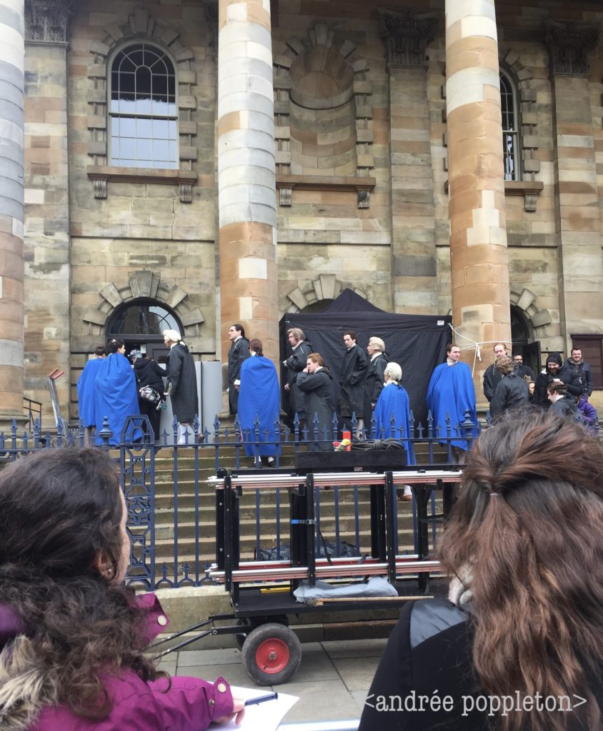 outlander episode 408, seeing outlander, behind the scenes filming outlander, glasgow