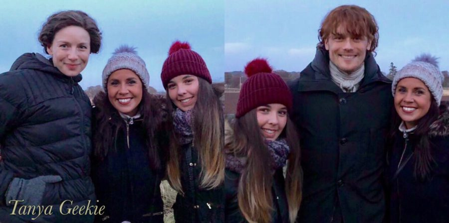 outlander season 4 behind-the-scenes photos, filming outlander, Falkland, outlander cast