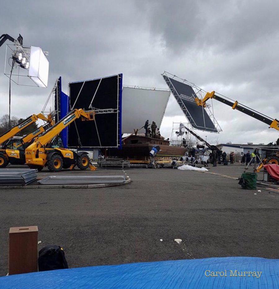 outlander season 4 behind-the-scenes filming, filming outlander, Cumbernauld