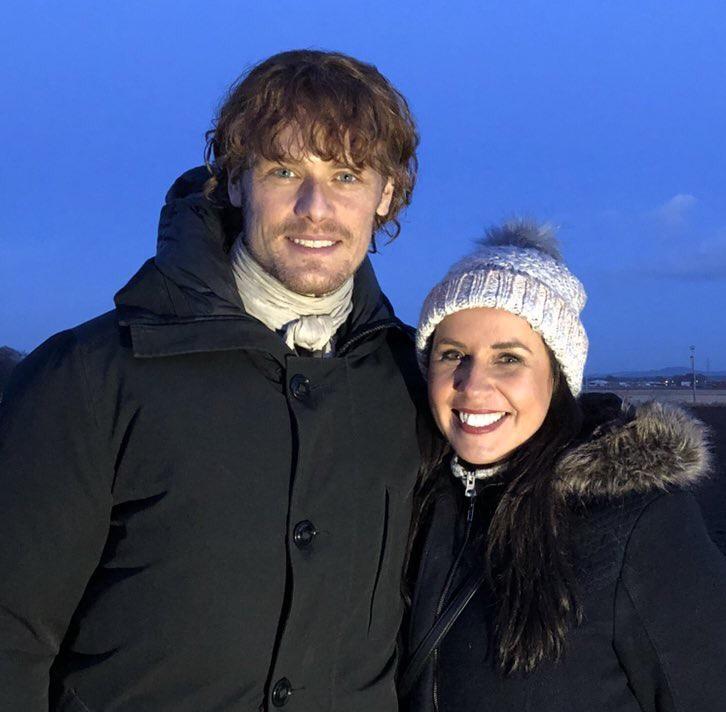 outlander season 4 behind-the-scenes photos, filming outlander, Falkland, sam heughan