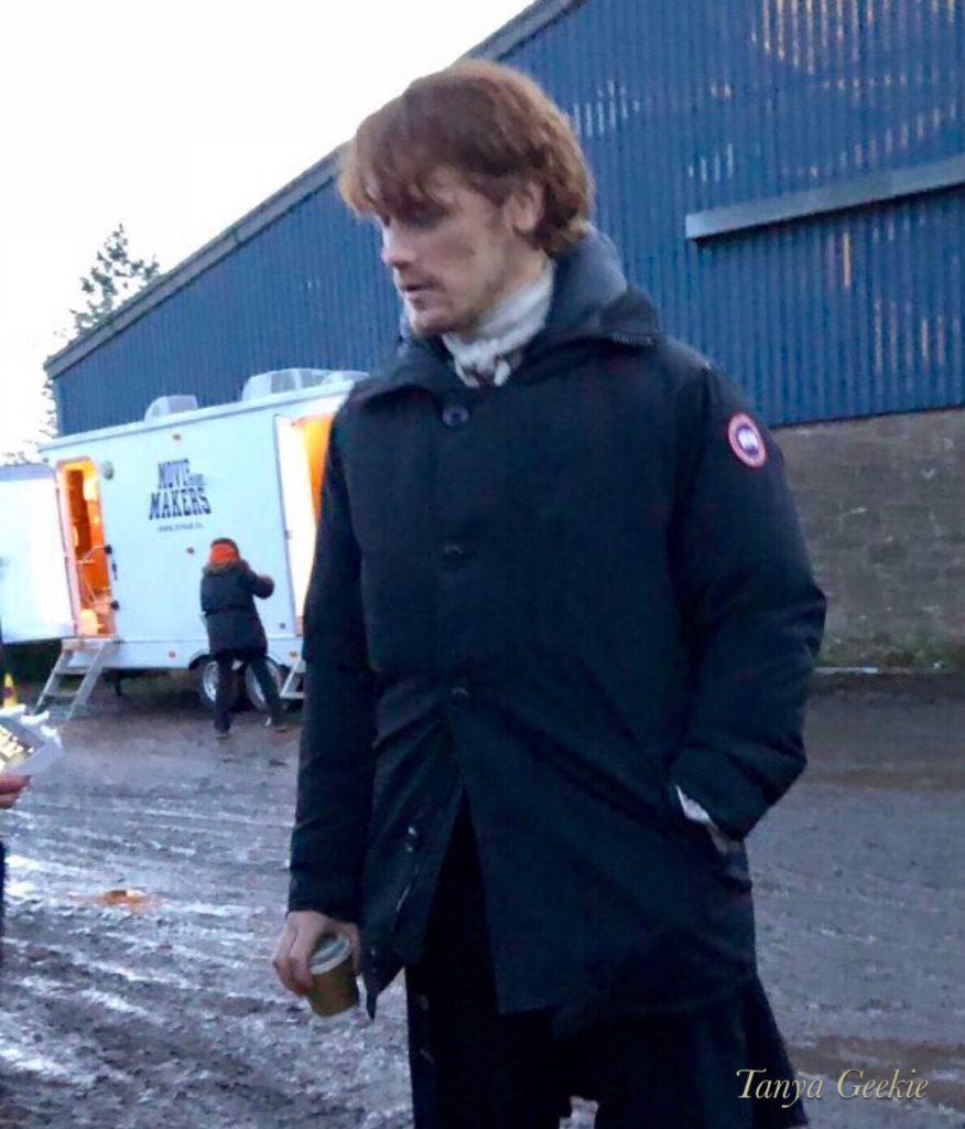 outlander season 4 behind-the-scenes photos, filming outlander, Falkland