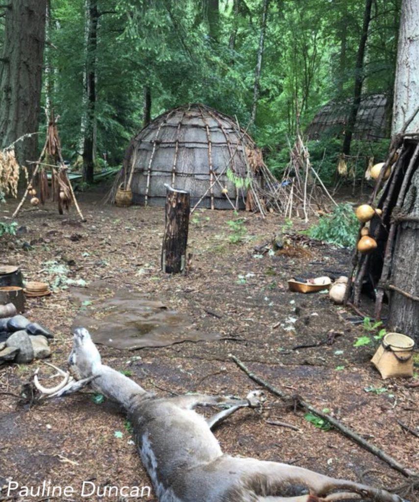 outlander season 4 behind-the-scenes photos, filming outlander, faskally forest, mohawk village
