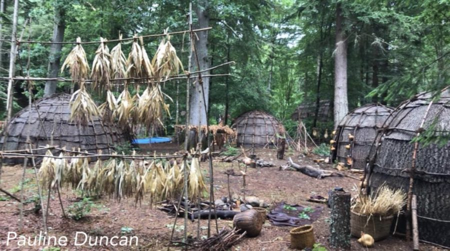 behind the scenes filming outlander season 4, outlander episode 412 providence, faskally wood, filming the mohawk village in outlander