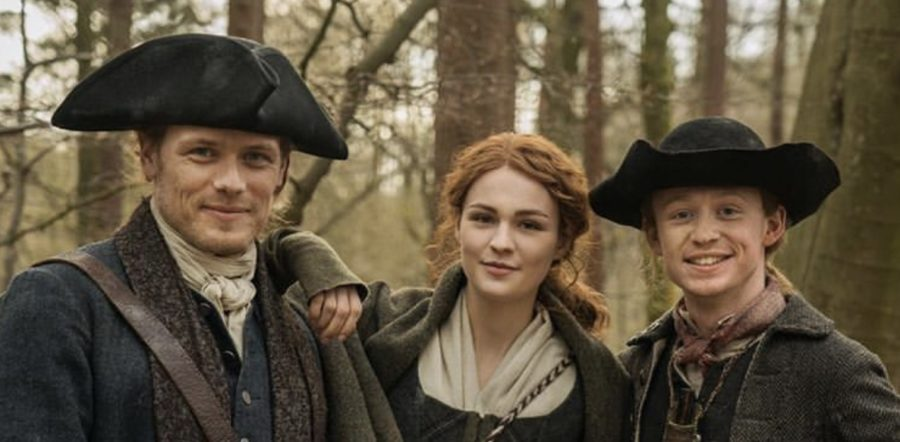outlander episode 409, behind the scenes filming outlander season 4, the birds and the bees