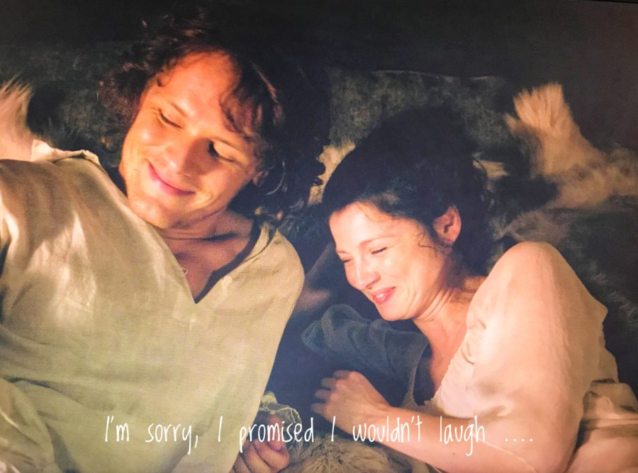 outlander and the female gaze, is outlander still a groundbreaking tv show, jamie and claire in bed