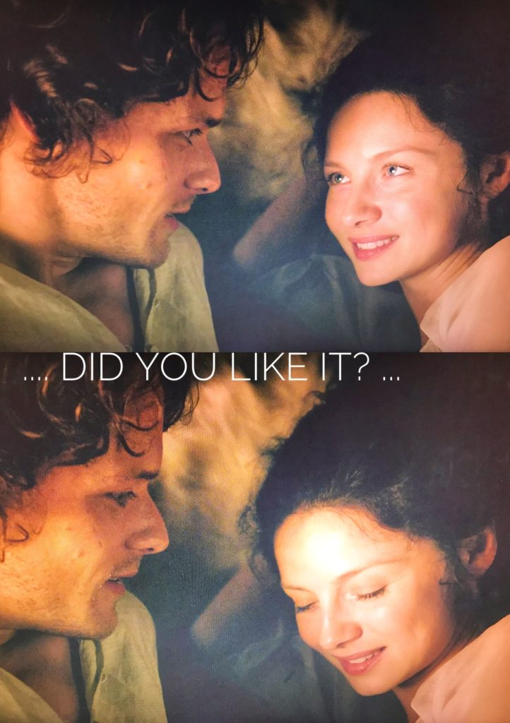 outlander and the female gaze, is outlander still a groundbreaking tv show, jamie and claire in bed season 1