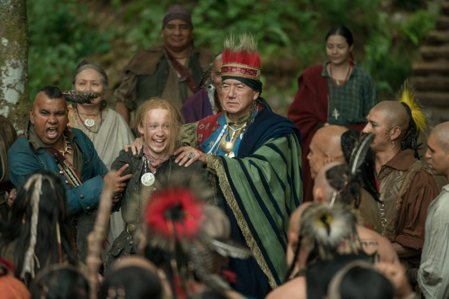 outlander season 4 finale heart score, the Mohawk chief accepts Ian into the Mohawk tribe