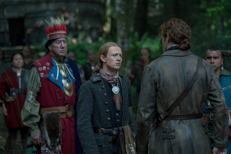 outlander season 4 finale heart score, Young Ian trading himself to the Mohawks