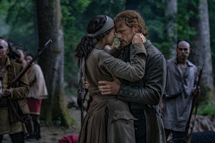 outlander season 4 finale heart score, Jamie saying good bye to Claire after offering himself to the Mohawks