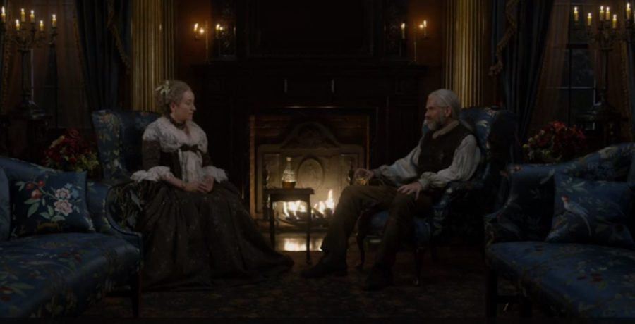 outlander season 4 finale heart score, jon gary steele outlander sets, river run, jocasta and Murtagh