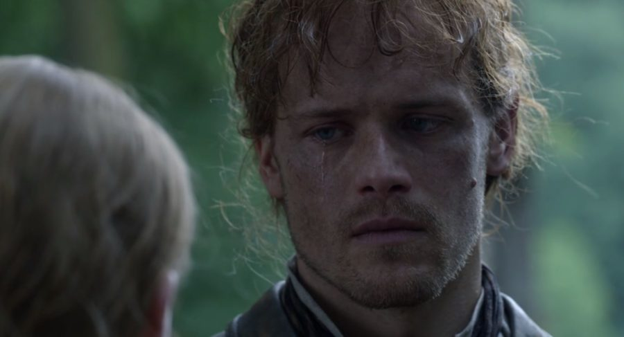 outlander season 4 finale heart score, Jamie saying good bye to Ian