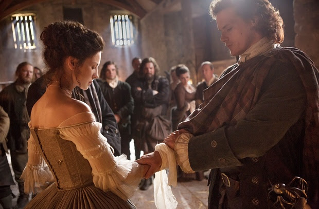 comparing two outlander weddings, Jamie and Claire's wedding