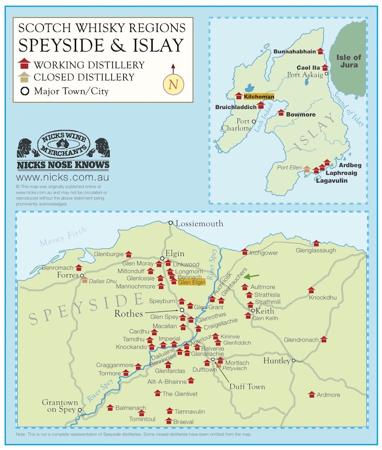 scotch whisky regions on Speyside and Islay