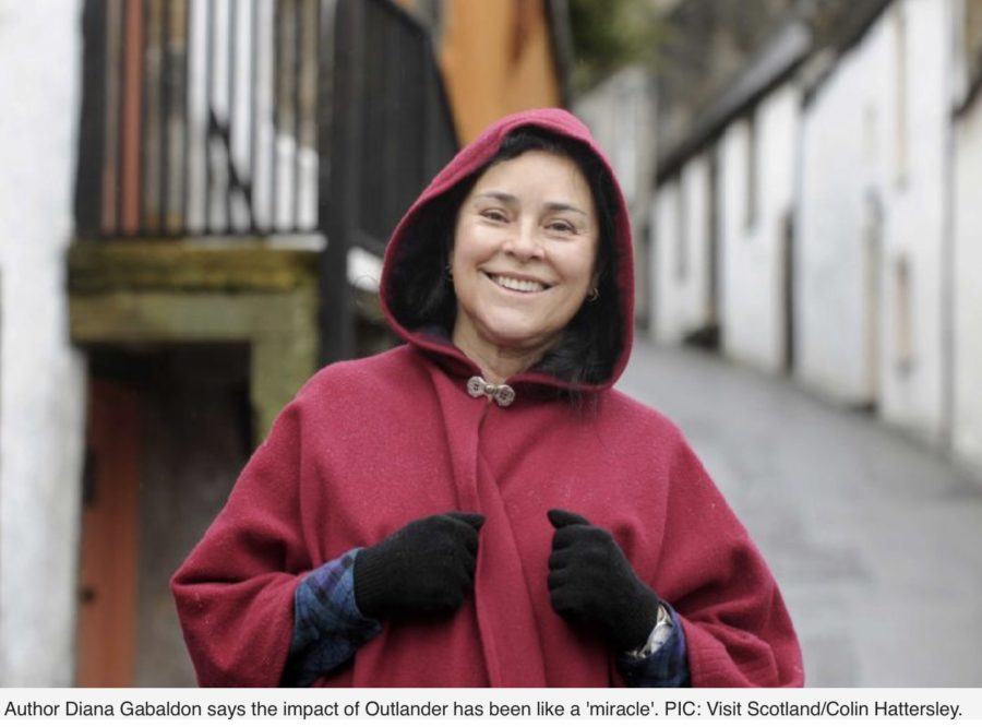 outlander update, Diana Gabaldon on winning Thistle Award