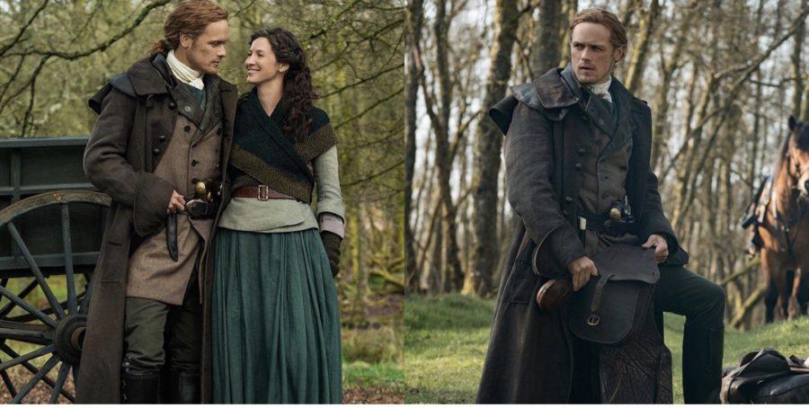 outlander season 5, behind the scenes in outlander, claire and jamie official season 5 shots