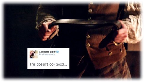 presentism pitfalls in outlander, jamie getting ready to spank claire in outlander season 1