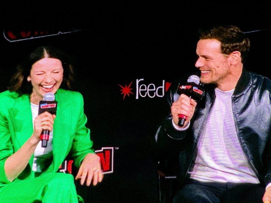 New York Comic Con 2019, Caitriona Balfe and Sam Heughan