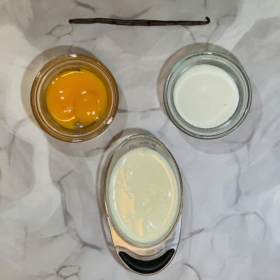 vanilla custard sauce ingredients