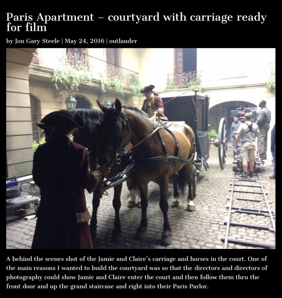 claire and jamie's paris apartment, jon gary steele