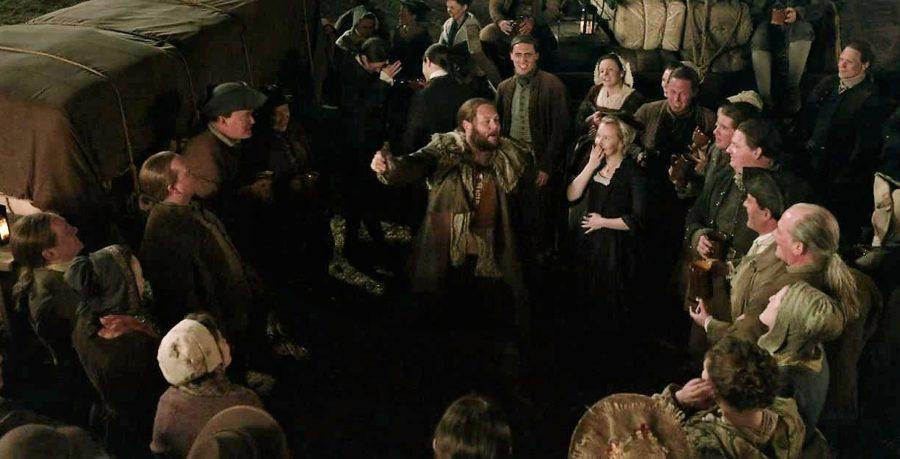 wedding party, outlander season 5 premiere
