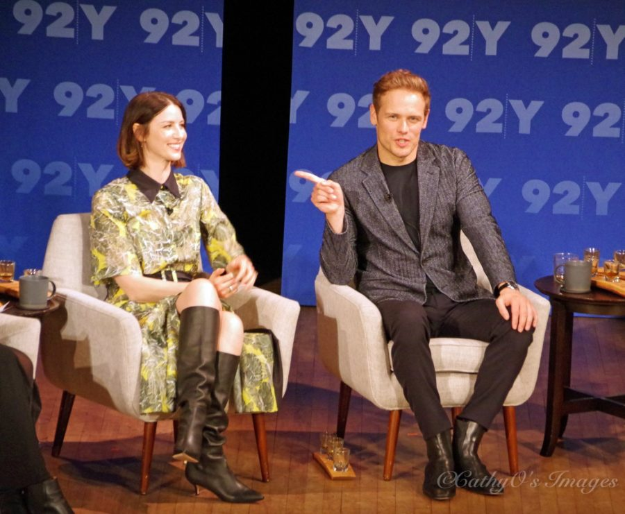 92nd street y outlander panel, caitriona balfe and sam heughan