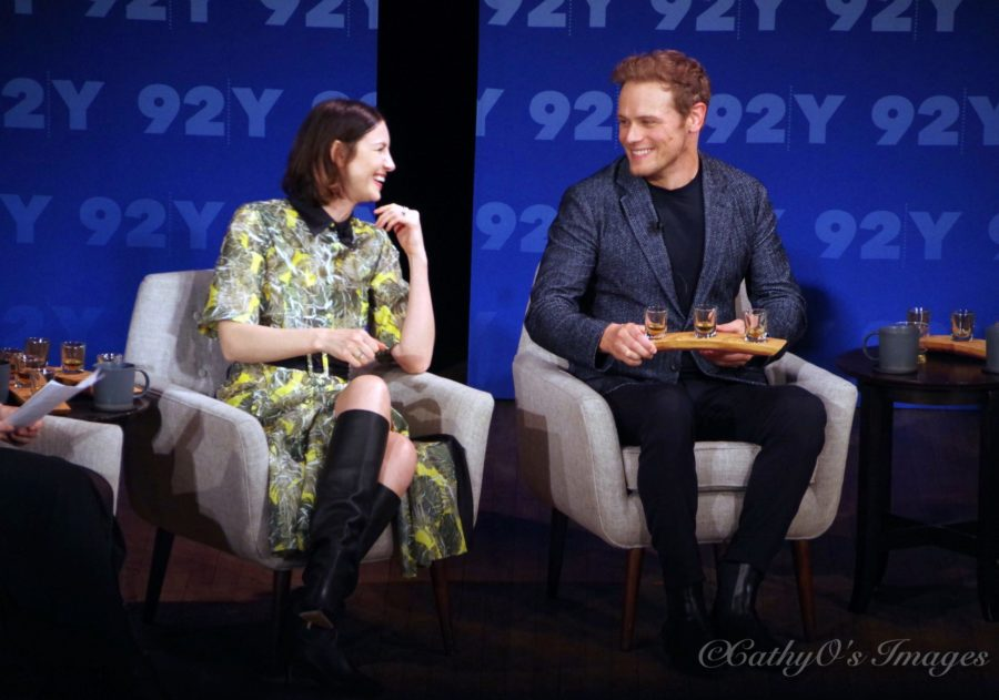 92nd st y outlander panel, caitriona balfe and sam heughan