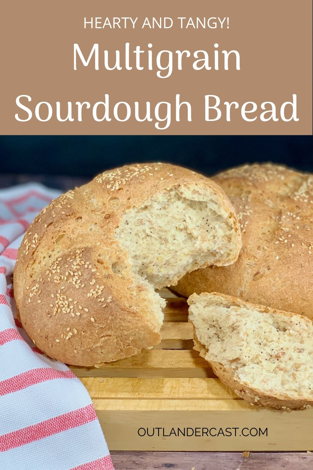 Multigrain Sourdough Bread pinterest banner 1
