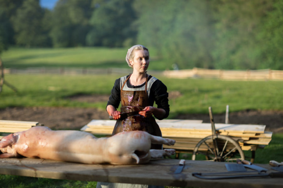 Marsali butchering a deer, outlander episode 503 free will