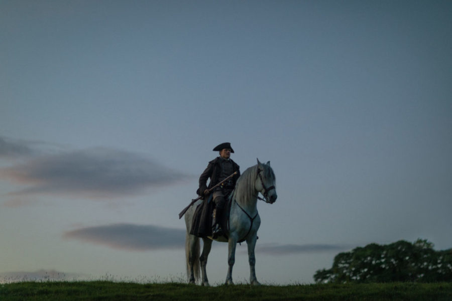Jamie on his horse, outlander episode 503 free will