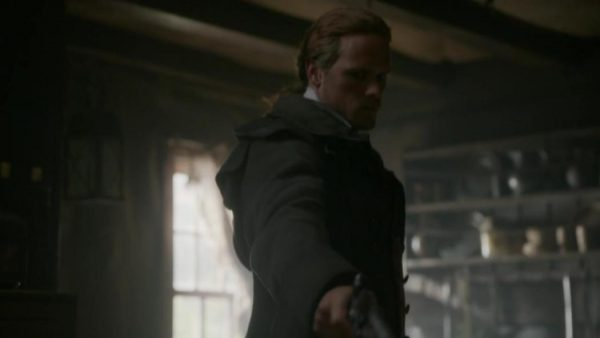 jamie kills beardsley, outlander episode 503 free will