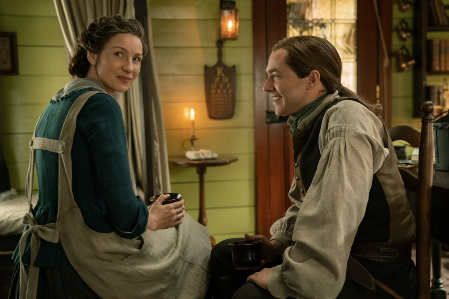 claire and roger, outlander season 5