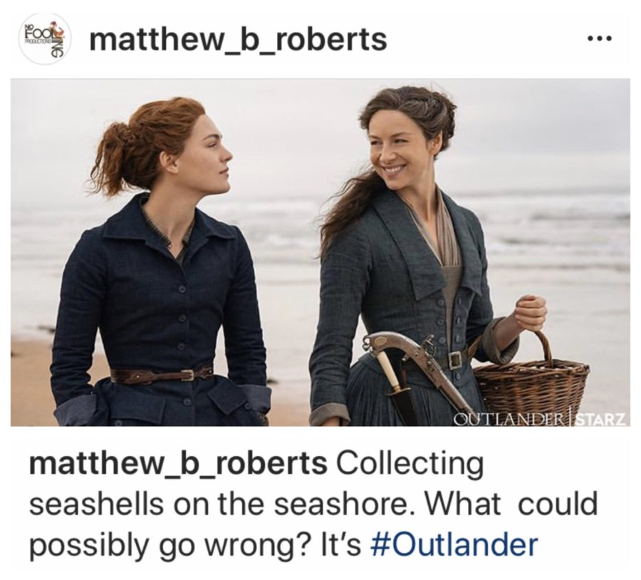 claire and Brianna on the beach, outlander season 5