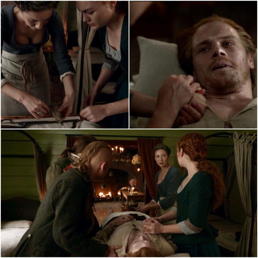 Jamie Fraser dying in Outlander Season 5, near deaths of Jamie Fraser