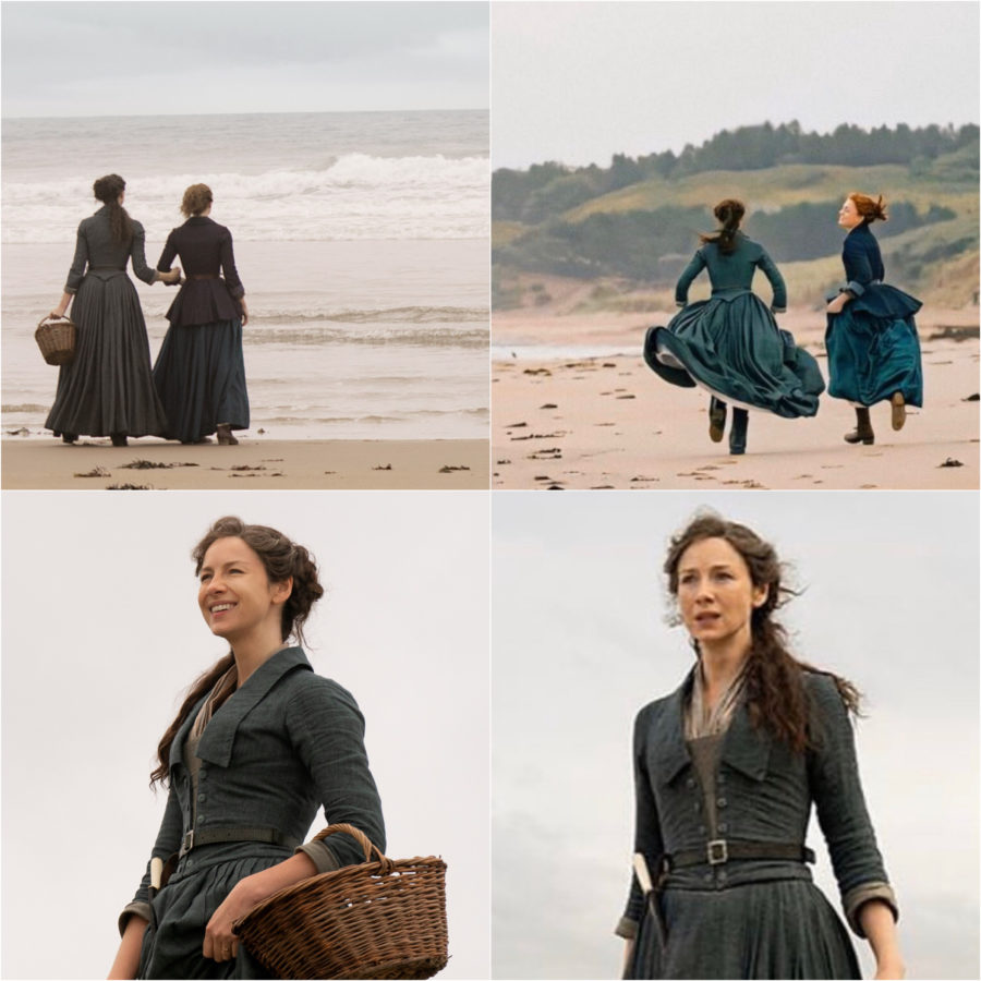 outlander season 5, claire and brianna on the beach