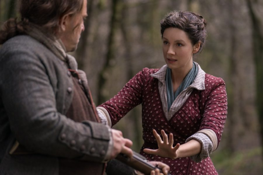 claire and herr mueller, outlander season 4, contagion in outlander