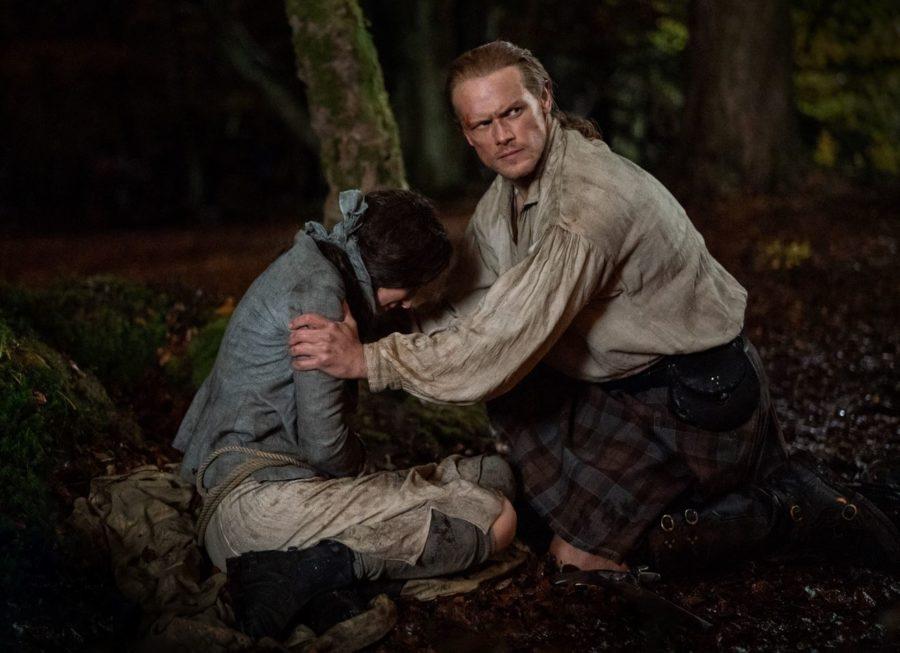 Jamie saving Claire, outlander season 5 finale