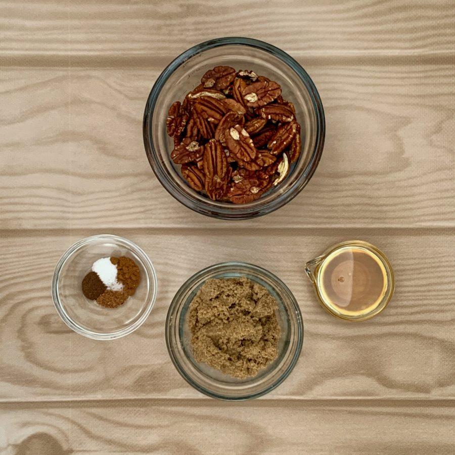 Candied Pecans ingredients, ja-brownies